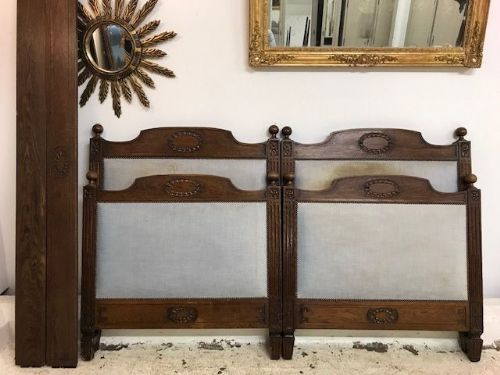 Pair Vintage French  Beds - COULD BE PUSHED TOGETHER -- ha82/83